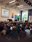We visited five school assemblies